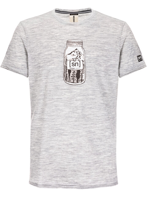 super.natural Digital Graphic Tee 140 Men Ash Melange/Mountain Jar Print
